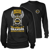 School Bus Driver - Never Underestimate - District Long Sleeve / Black / S - 9