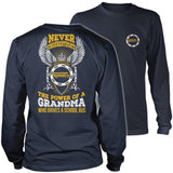 School Bus Driver - Never Underestimate Grandma - District Long Sleeve / Navy / S - 10