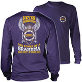 School Bus Driver - Never Underestimate Grandma - District Long Sleeve / Purple / S - 11