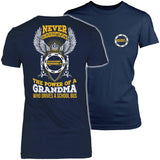 School Bus Driver - Never Underestimate Grandma - District Made Womens Shirt / Navy / S - 1