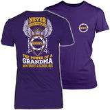 School Bus Driver - Never Underestimate Grandma - District Made Womens Shirt / Purple / S - 3