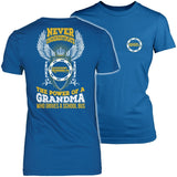 School Bus Driver - Never Underestimate Grandma - District Made Womens Shirt / Royal / S - 4