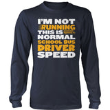 School Bus Driver - Normal Speed - District Long Sleeve / Navy / S - 10