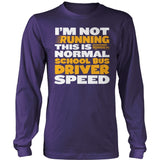 School Bus Driver - Normal Speed - District Long Sleeve / Purple / S - 11