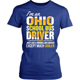 School Bus Driver - Ohio Cooler - District Made Womens Shirt / Royal / S - 11