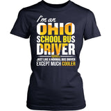 School Bus Driver - Ohio Cooler - District Made Womens Shirt / Navy / S - 13