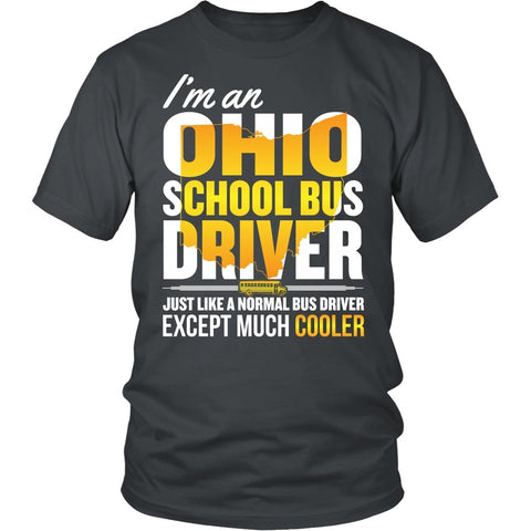 School Bus Driver - Ohio Cooler - District Unisex Shirt / Charcoal / S - 1
