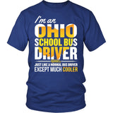 School Bus Driver - Ohio Cooler - District Unisex Shirt / Royal Blue / S - 2