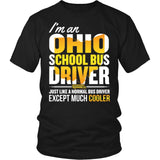 School Bus Driver - Ohio Cooler - District Unisex Shirt / Black / S - 4