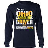 School Bus Driver - Ohio Cooler - District Long Sleeve / Navy / S - 5