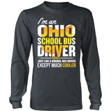 School Bus Driver - Ohio Cooler - District Long Sleeve / Charcoal / S - 6