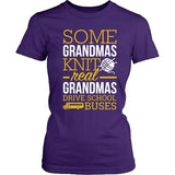 School Bus Driver - Real Grandmas - District Made Womens Shirt / Purple / S - 2
