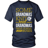 School Bus Driver - Real Grandmas - District Unisex Shirt / Navy / S - 5