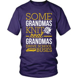 School Bus Driver - Real Grandmas - District Unisex Shirt / Purple / S - 7