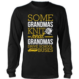 School Bus Driver - Real Grandmas - District Long Sleeve / Black / S - 9