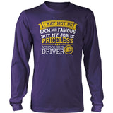 School Bus Driver - Rich and Famous - District Long Sleeve / Purple / S - 11