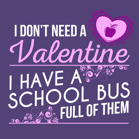 School Bus Driver - School Bus Full of Valentines -  - 14