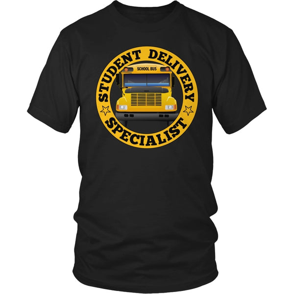 School Bus Driver - Student Delivery - District Unisex Shirt / Black / S - 1