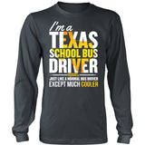 School Bus Driver - Texas Cooler - District Long Sleeve / Charcoal / S - 6