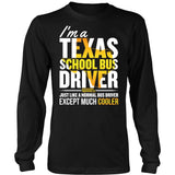 School Bus Driver - Texas Cooler - District Long Sleeve / Black / S - 7