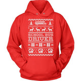 School Bus Driver - Ugly Sweater - Hoodie / Red / S - 2