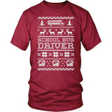 School Bus Driver - Ugly Sweater - District Unisex Shirt / Red / S - 6