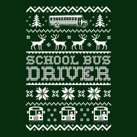 School Bus Driver - Ugly Sweater -  - 9
