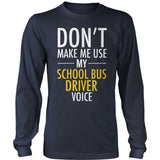 School Bus Driver - Voice - District Long Sleeve / Navy / S - 10