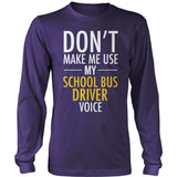School Bus Driver - Voice - District Long Sleeve / Purple / S - 11