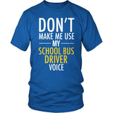 School Bus Driver - Voice - District Unisex Shirt / Royal Blue / S - 8