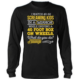 School Bus Driver - What Do You Do - District Long Sleeve / Black / S - 10