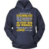 School Bus Driver - What Do You Do - Hoodie / Navy / S - 11