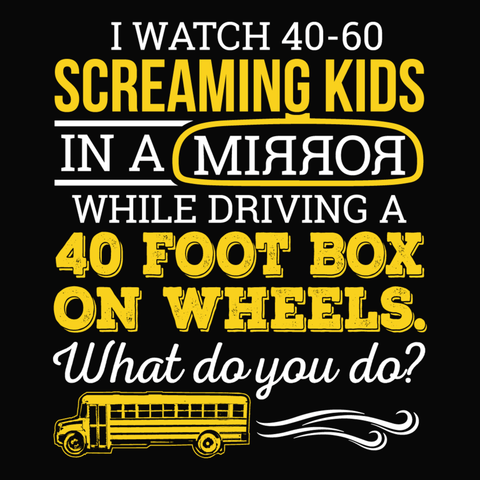 School Bus Driver - What Do You Do -  - 14