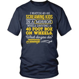School Bus Driver - What Do You Do - District Unisex Shirt / Navy / S - 7