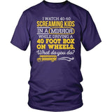 School Bus Driver - What Do You Do - District Unisex Shirt / Purple / S - 9