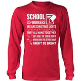 School - Christmas Co-workers - District Long Sleeve / Red / S - 5