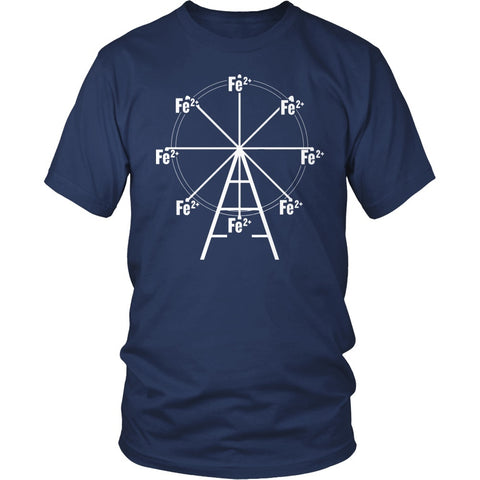 Science - Ferrous Wheel - District Unisex Shirt / Navy / S - 1