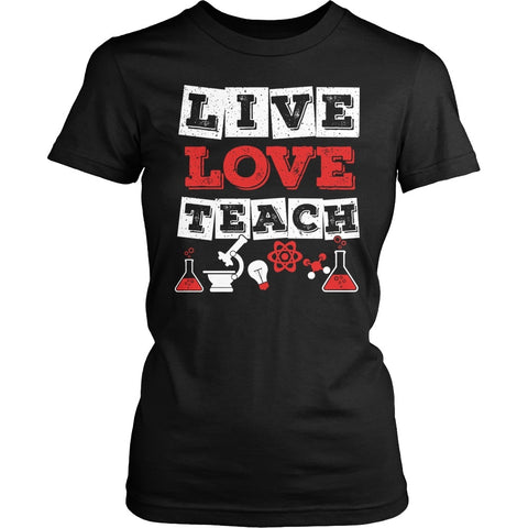 Science - Live Love - District Made Womens Shirt / Black / S - 1