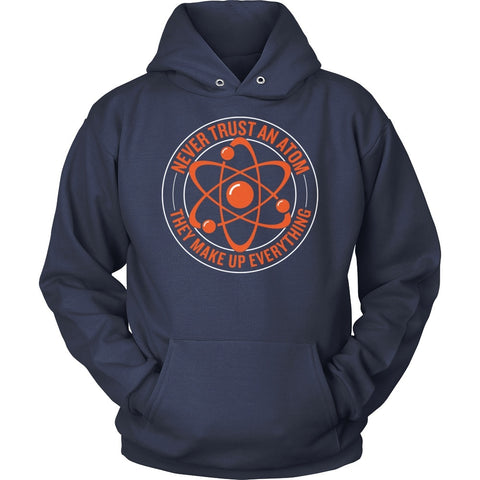 Science - Never Trust an Atom - Hoodie / Navy / S - 1