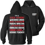 Science - Poem - Hoodie / Black / S - 12