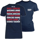Science - Poem - District Made Womens Shirt / Navy / S - 1