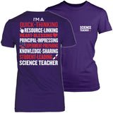 Science - Poem - District Made Womens Shirt / Purple / S - 3