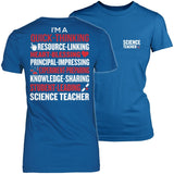 Science - Poem - District Made Womens Shirt / Royal / S - 4