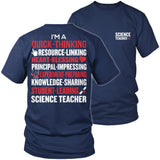 Science - Poem - District Unisex Shirt / Navy / S - 6