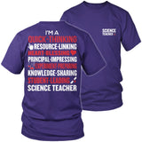 Science - Poem - District Unisex Shirt / Purple / S - 8