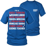 Science - Poem - District Unisex Shirt / Royal Blue / S - 9