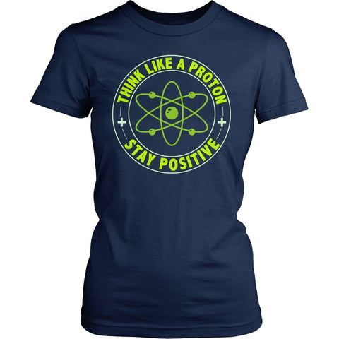 Science - Think Positive - District Made Womens Shirt / Navy / S - 1