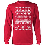 Science - Ugly Sweater - District Long Sleeve / Red / S - 2