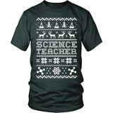 Science - Ugly Sweater - District Unisex Shirt / Dark Green / S - 5