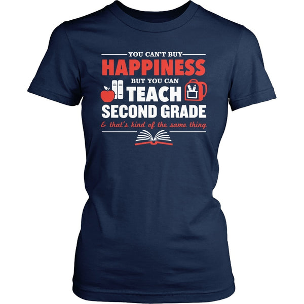 Second Grade - Happiness - District Made Womens Shirt / Navy / S - 1